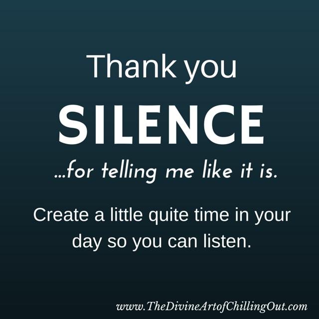 thank you SILENCE